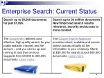 enterprise search current status