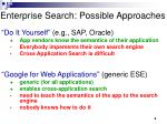 enterprise search possible approaches