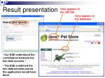 result presentation1