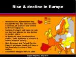 rise decline in europe