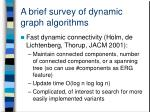 a brief survey of dynamic graph algorithms1