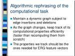 algorithmic rephrasing of the computational task