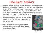 discussion behavior