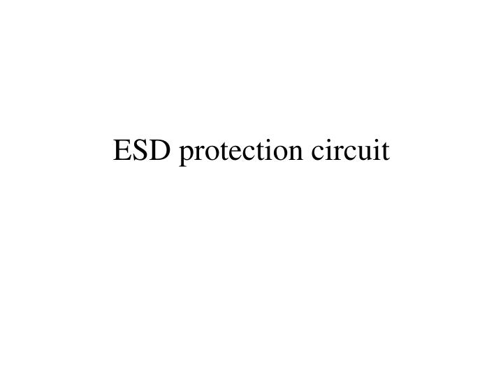 esd protection circuit n.