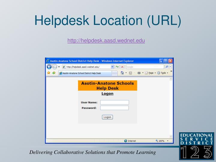Helpdesk location url