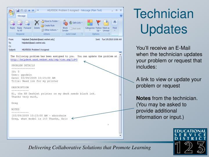 Technician Updates