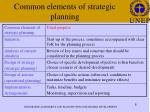 common elements of strategic planning