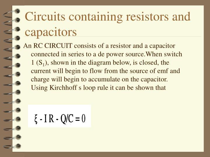 Circuits containing resistors and capacitors