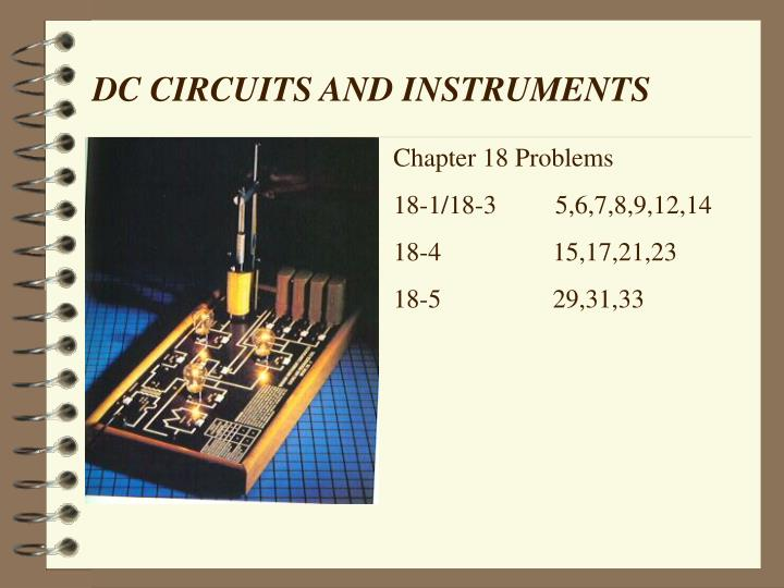 Dc circuits and instruments