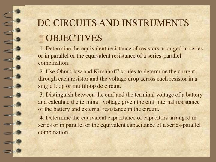 Dc circuits and instruments1