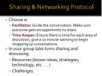 sharing networking protocol