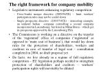the right framework for company mobility