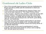 gentlemen s ladies clubs