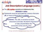 job description language cont