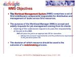 wms objectives