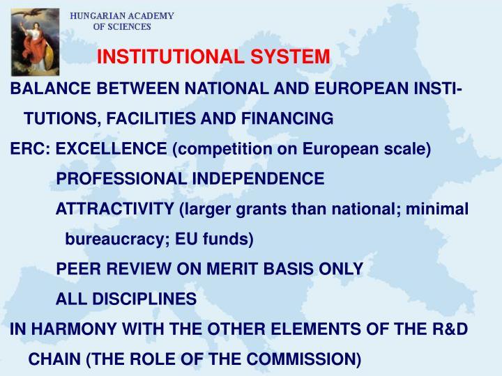 INSTITUTIONAL SYSTEM