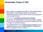 amsterdam treaty of 1997