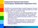 employment financial instruments the european globalisation adjustment fund1