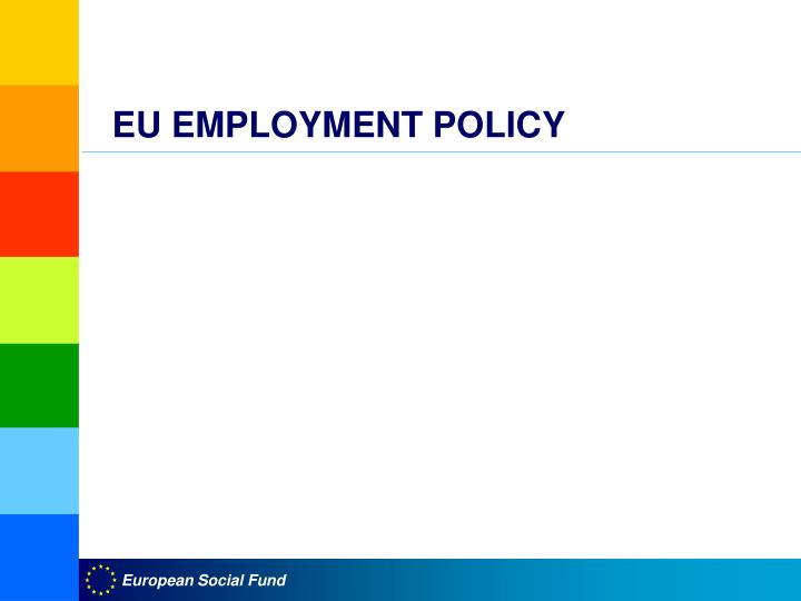 eu employment policy n.