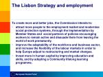 the lisbon strategy and employment