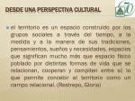 desde una perspectiva cultural3