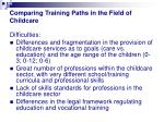 comparing training paths in the field of childcare