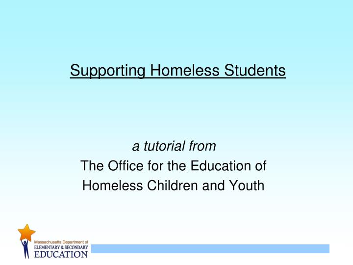 supporting homeless students n.