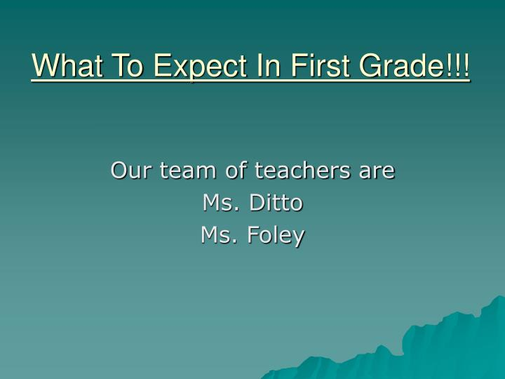 what to expect in first grade n.