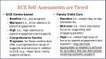 ece self assessments are tiered