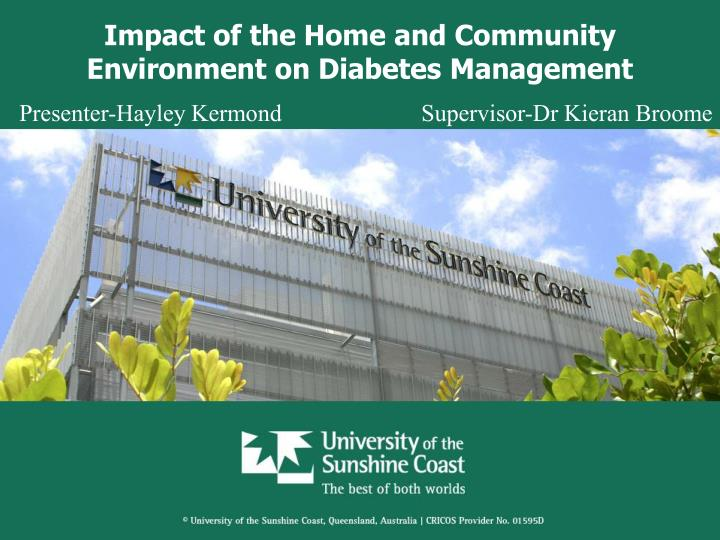 impact of the home and community environment on diabetes management n.