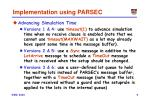 implementation using parsec1