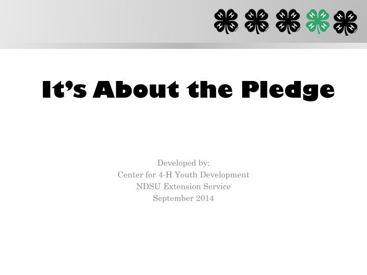 it s about the pledge n.