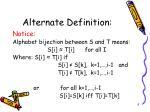 alternate definition