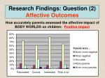 research findings question 2 affective outcomes2