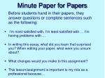 minute paper for papers