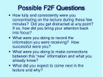 possible f2f questions
