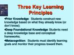 three key learning principles