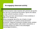an engaging classroom activity