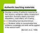 authentic teaching materials