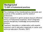 background 1 esp professional practices