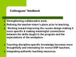 colleagues feedback