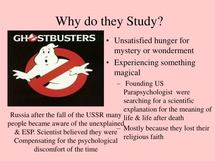 Why do they study