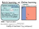 batch learning vs