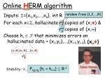 online h erm algorithm