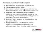 how do you market services to lawyers