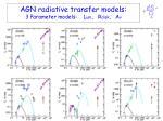 agn radiative transfer models 3 parameter models l um r disk a v