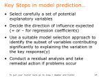 key steps in model prediction