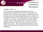 availability of confidential information