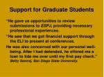 support for graduate students1