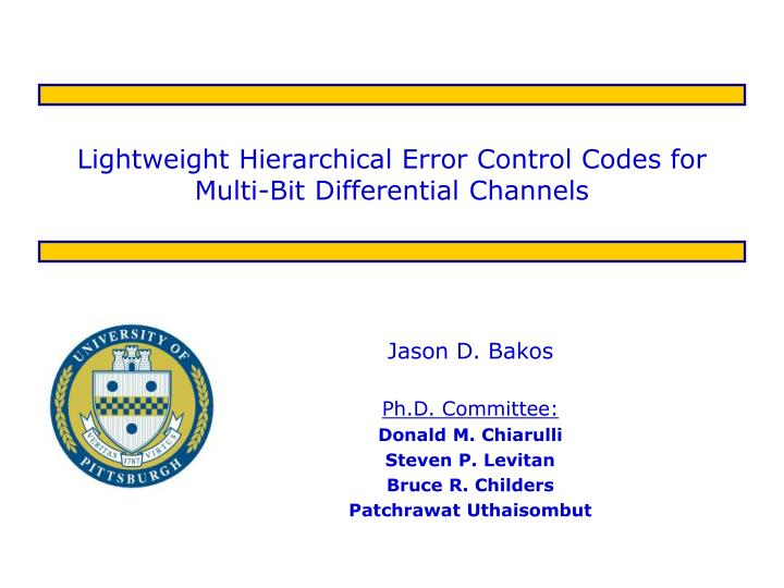lightweight hierarchical error control codes for multi bit differential channels n.